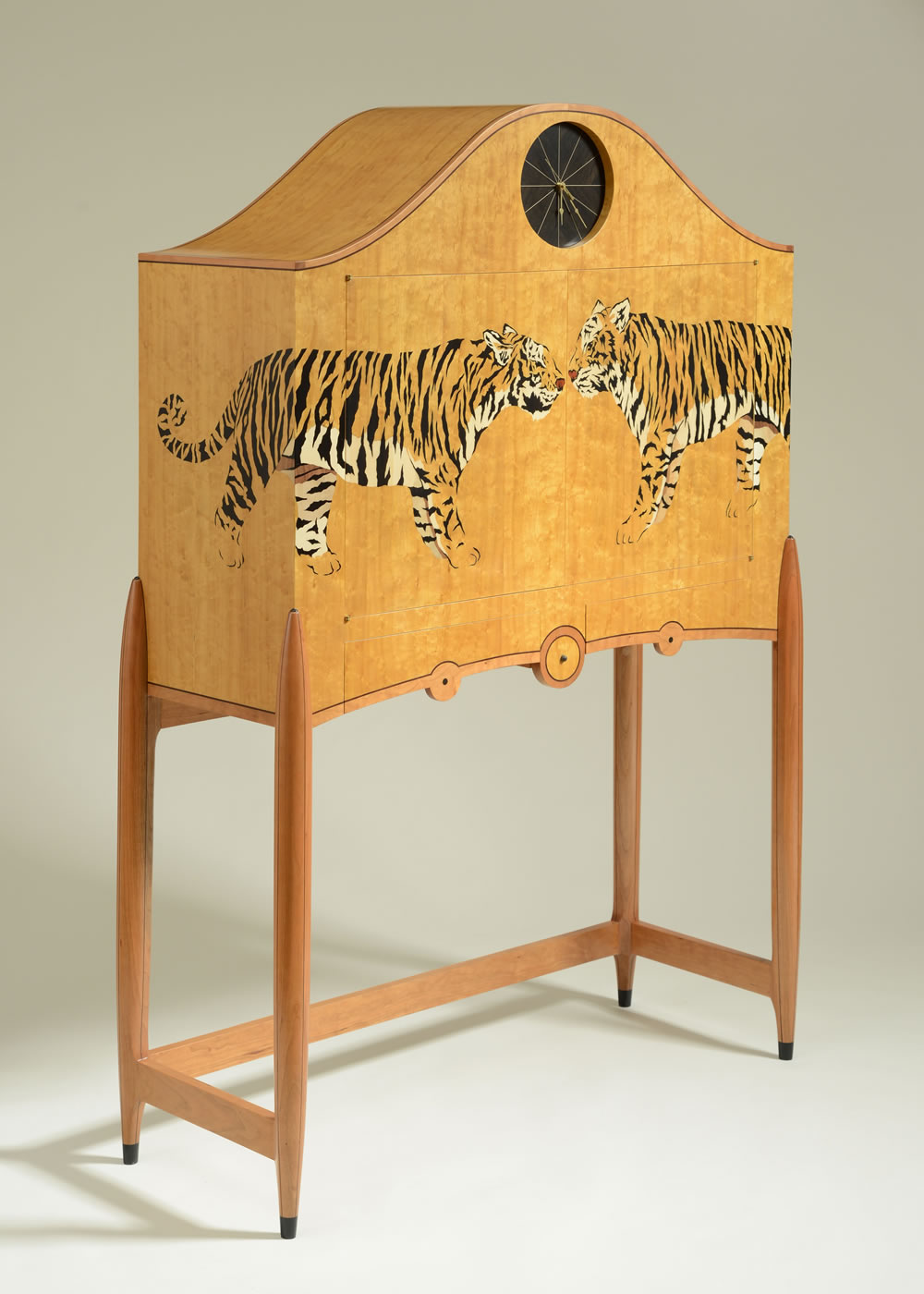 Wooden Studio Furniture ~ Animal silas kopf woodworking inlaid wood marquetry
