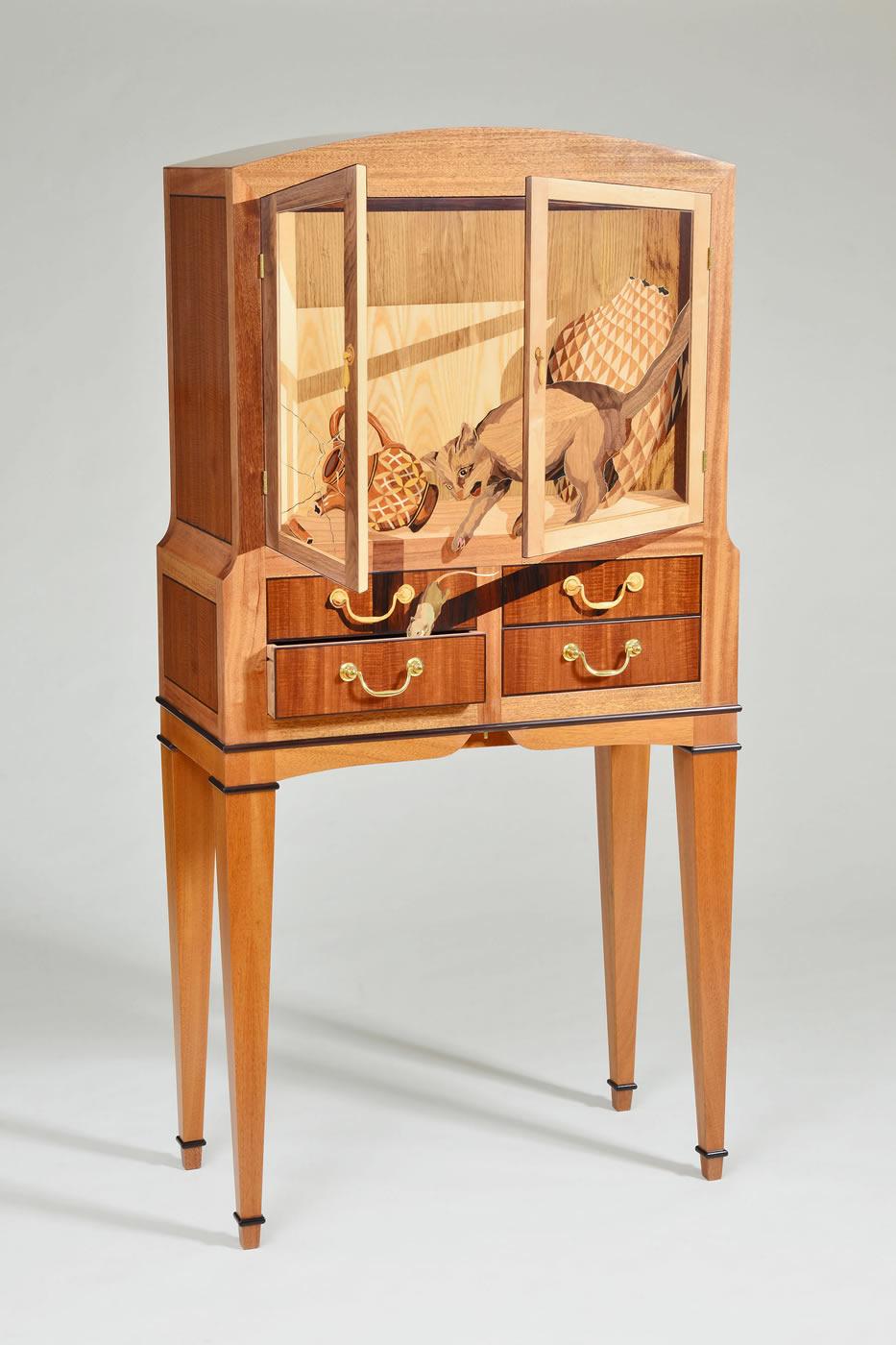 Trompe l oeil silas kopf woodworking inlaid wood