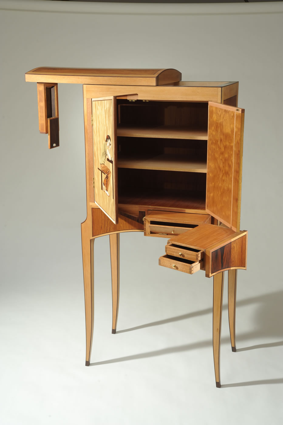 """Checkmate"" Cabinet, Open"