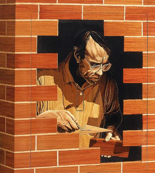 """Self Portrait: Detail, """"Bricolage"""""""